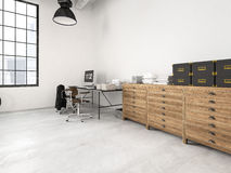 Sottotetto industriale moderno rappresentazione 3d Fotografie Stock Libere da Diritti
