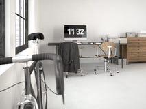 Sottotetto industriale rappresentazione 3d Fotografie Stock
