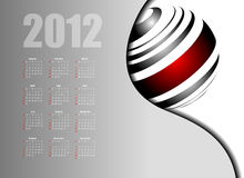 Sottragga il calendario 2012 Immagine Stock