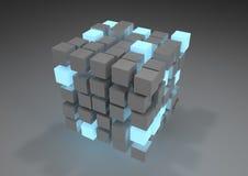 Sottragga il cubo Immagini Stock Libere da Diritti