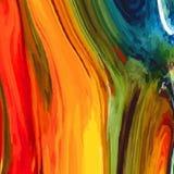 Sottragga il fondo colorato, simile alle pitture rovesciate Fotografia Stock