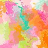 Sottragga il fondo macchiato del modello in spettro di colori pastello dolce - arte moderna della pittura illustrazione di stock
