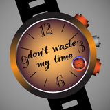 Non sprechi il mio tempo Fotografie Stock