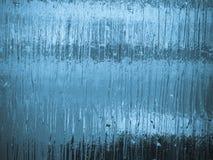 Sottragga il gelo su vetro fotografia stock