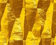 Sottragga il modello sgualcito dell'oro di stagnola spazzolata piegata Fotografia Stock Libera da Diritti