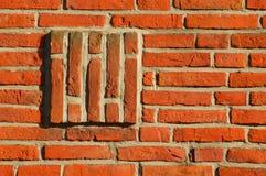Sottragga il muro di mattoni immagini stock