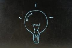 Sottragga il simbolo della lampadina Immagini Stock Libere da Diritti