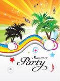 Sottragga il tema del partito di estate Immagine Stock