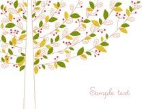Sottragga l'albero di colore illustrazione vettoriale