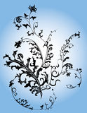Sottragga l'elemento floreale Fotografie Stock