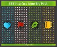 Sottragga l'insieme di simboli colorato Internet di Web Immagine Stock