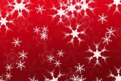 Sottragga la composizione, colore rosso della priorità bassa della neve Immagini Stock