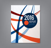 Sottragga la linea curva fondo di progettazione per il rapporto annuale di affari illustrazione di stock
