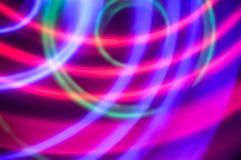 sottragga la priorità bassa Cerchi blu, verdi e porpora Fotografia Stock Libera da Diritti