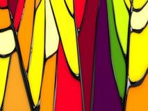 Sottragga la priorità bassa della finestra di stained-glass Immagini Stock Libere da Diritti