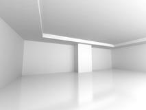 Sottragga la priorità bassa di architettura Svuoti l'interiore della stanza bianca Immagine Stock Libera da Diritti