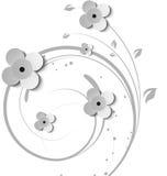 Sottragga la priorità bassa floreale illustrazione di stock