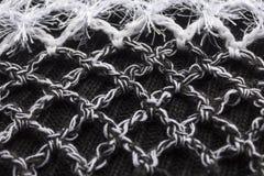sottragga la priorità bassa Foto del primo piano di lana tricottata Fotografie Stock Libere da Diritti