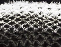 sottragga la priorità bassa Foto del primo piano di lana tricottata Erba falsa Fotografia Stock Libera da Diritti