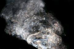 sottragga la priorità bassa Fumo su priorità bassa nera Immagine Stock Libera da Diritti