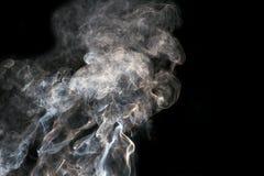 sottragga la priorità bassa Fumo su priorità bassa nera Fotografia Stock