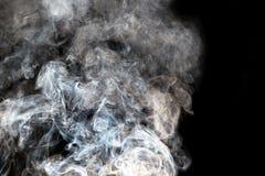 sottragga la priorità bassa Fumo su priorità bassa nera Fotografie Stock Libere da Diritti