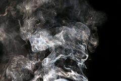 sottragga la priorità bassa Fumo su priorità bassa nera Fotografia Stock Libera da Diritti