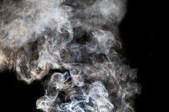 sottragga la priorità bassa Fumo su priorità bassa nera Immagini Stock Libere da Diritti