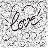 sottragga la priorità bassa Iscrizione della mano di parola di amore illustrazione vettoriale