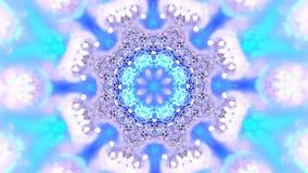 sottragga la priorità bassa kaleidoscopic Sequenza del caleidoscopio del mandala-fiocco di neve di Natale Prisma dello specchio c illustrazione di stock