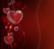 Sottragga la priorità bassa del cuore di giorno dei biglietti di S. Valentino Immagini Stock Libere da Diritti
