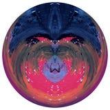 Sottragga la sfera colorata, il globo progettato, palla progettata variopinta isolata su fondo bianco fotografia stock libera da diritti