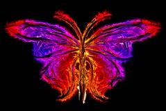 Sottragga la siluetta della farfalla Fotografia Stock Libera da Diritti