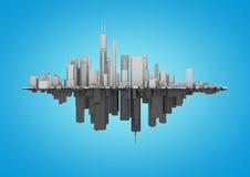 Sottragga la simmetria della città Immagine Stock Libera da Diritti