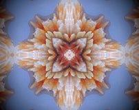 Sottragga la stella parteggiata espelsa dell'illustrazione 4 della mandala 3D Immagini Stock