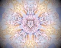 Sottragga la stella parteggiata espelsa dell'illustrazione 5 della mandala 3D Immagini Stock