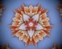 Sottragga la stella parteggiata espelsa dell'illustrazione 5 della mandala 3D Immagine Stock Libera da Diritti