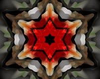 Sottragga la stella parteggiata espelsa dell'illustrazione 6 della mandala 3D royalty illustrazione gratis