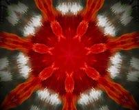 Sottragga la stella parteggiata espelsa dell'illustrazione 7 della mandala 3D illustrazione di stock