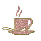 Sottragga la tazza di caffè illustrazione vettoriale