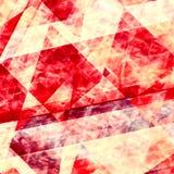Sottragga le righe rosse priorità bassa Progettazione geometrica dell'elemento Bella carta da parati vibrante Dipinga la carta di Fotografie Stock