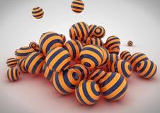 Sottragga le sfere 3D Fotografia Stock