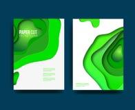 A4 sottraggono l'insieme dell'illustrazione di arte della carta di colore 3d Colori di contrasto Vector la disposizione di proget royalty illustrazione gratis