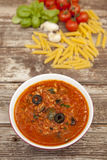 Souce saboroso do tomate do atum Imagem de Stock Royalty Free