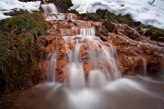 Souce stream. Natural fresh and purity stream Royalty Free Stock Image