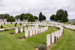 SOUCHEZ, FRANCE/EUROPE - SEPTEMBER 12 : Cabaret Rouge British Ce. Metery in Souchez France on September 12, 2015 royalty free stock photo