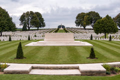 SOUCHEZ, FRANCE/EUROPE - SEPTEMBER 12 : Cabaret Rouge British Ce. Metery in Souchez France on September 12, 2015 stock photo