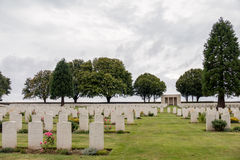 SOUCHEZ, FRANCE/EUROPE - SEPTEMBER 12 : Cabaret Rouge British Ce. Metery in Souchez France on September 12, 2015 royalty free stock image