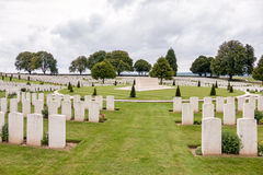 SOUCHEZ, FRANCE/EUROPE - SEPTEMBER 12 : Cabaret Rouge British Ce. Metery in Souchez France on September 12, 2015 stock photos