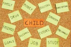 soucis d'enfant Images libres de droits